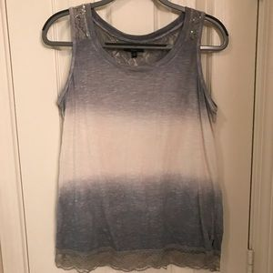 SPENSE KNITS SEQUIN LACE TANK TOP- SIZE M